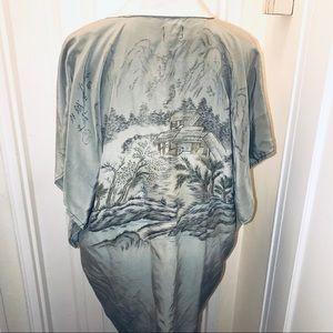 URBAN RENEWAL Hand screend Japanese garden kimono